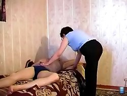 Teen fucker enjoys drilling a deep wet mature pussy with his cock