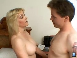 Blonde mature mistress Cathie Cane has problems with her cable being out and needs some dick to turn it and her pussy back on.
