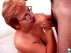 Young lad seduced by his neighbor's wife and she serves him like a real whore