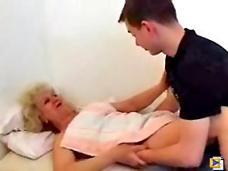 Lad's teacher is much more experienced than the girls from the college and he spends a lot of time at her place fucking her hard